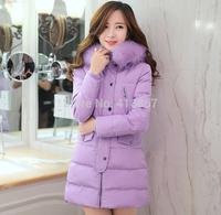 NEW 2014 hot winter jacket women keep warm winter down jacket women's coat winter clothing fashion long Fur collar clothes