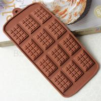 12 hole the classic waffle waffle plaid silicone chocolate mold inserts silicone bakeware baking DIY