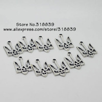 (40 pieces/lot)  15*25mm Vintage Silver Metal Alloy Hollow National flag Charms 7694