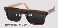 Decorative fancy plywood sunglasses