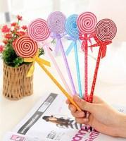 Free Shipping Stationery Sweet Personality Lollipop Ballpoint Pen Cartoon Pen