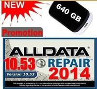 Free shipping 2014 auto car repair software alldata 10.53 ALL DATA +ETKA 7.3 in 640G HDD