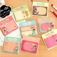 Free Shipping 20PCS/LOT Cute Little Red Riding Hood Biscuit Girl Style Memo Pad Promotion Gift