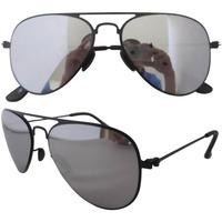 S12004 Stainless Steel Frame 3Pairs Gray Lenses Lightweight Aviator  Sunglasses