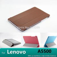 YSA02 Lenovo A5500 case original Smart Case Cover for Lenovo Idea Tab A8-50 A5500 8 inch tablet +screen protector+stylus
