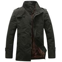 2014 Hot fashion New Fashion winter Men thick Jacket with fur Top quality super warm Plus size M-XXXL Wholesale&Retail M23