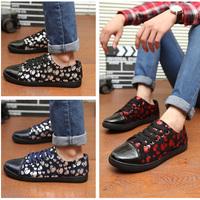 2014 New man shoes England skull shoes tide shoes men shoes Suede Features fashion men's casual shoes