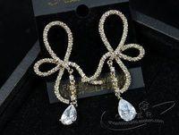 gold crystal white drop  lady's earings (5*2cm) (gghhjjghj)