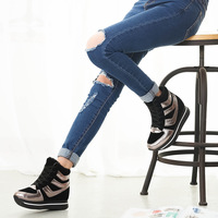 2014 new ladies and mixed colors in winter streamlined casual sneaker high lacing in the streets of high fashion women's shoes