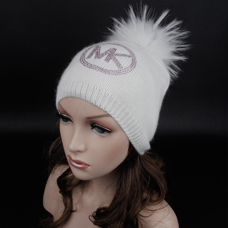 2014 cappello inverno caldo essenziale di modo personalizzato cappelli di cashmere cappello con strass. Peli sfera cappuccio. Pelliccia cuffie pompon