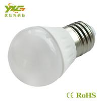 Russia Domestic Delivery AC110v 220v e27 3w  ceramic led bulb 5pcs/lot warm white & cool white wholesale free shipping