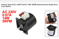 Speed AC 220V 0.07A 14W 5RPM Synchronous Reduction Gear Motor