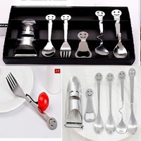 NEW !! 1 set of 6 kinds. fork, spoon, beer bottle opener Coffee spoon.Steak fork. stainless steel fork tableware Dinnerware Sets