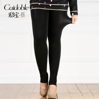2014 prabhutaratna plus size clothing plus velvet thickening mm thermal stovepipe legging socks step k005