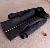 2014 Parkas For Women Winter Coat Jacket Women Outerwear Faux Fur Collar  Black Long Down Jacket Thick Parka Jaqueta Feminina