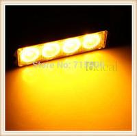 20set/lot 4W High Power 4 LED Waterproof Car Truck Emergency Strobe Flash Light Amber