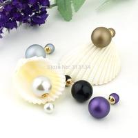 1pair Cute Charm Pearl Statement Stud Earrings Jewelry Simulated Pearl Jewelry  Earrings Brincos Statement  Pearl Stud Earrings