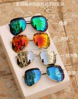 brand sunglasses popular reflective lens mxied colors