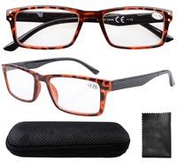 R057 Spring Hinge Retro Wayfarer Style Black Arm Reading Glasses with Case +1.0/+1.25/1.5/1.75/2.0/2.25/2.5/2.75/3/3.5/3.25