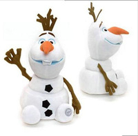 2014 New Arrival 2015 Hot Sale Frozen Snowman Olaf Soft Stuffed Plush Dolls Kids Christmas Gift Frozen Toy Doll 7 Inches 18CM