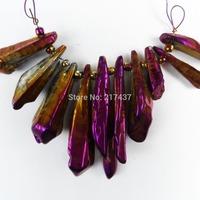 Q0884 Free Shopping Beautiful Romantic Fashion Glittery Agate pendant bead 10pcs/lot