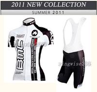 Women 2011 bmc Black white Cycling Jersey Sets bib Shorts girl Bike Wear Kits lady cycling skinsuit clothing sets XS~4XL