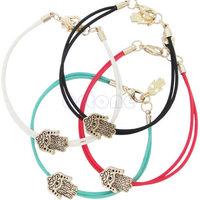 D19  womens girls Hamsa Bracelet Protection Evil Eye Lucky Bangle Wristband