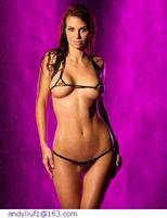 intimates Women Stripper Wear bra & brief sets Cheetah Baby G-String with Top sexy lingerie Micro bra panties sets undies