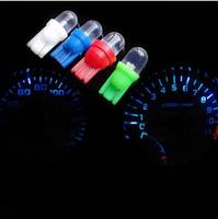 2pcs car LED Lamp T10 round head bulb W5W 194 5 color Light Bulbs free shipping