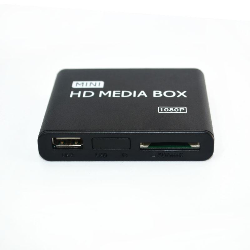 2pcs Portable Mini Full HD Media Player Autoplay 1080p SD/U Disk VGA Hdmi Media Player Support USB Storage & MMC/SD/MS/SDHC card(China (Mainland))