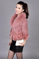 A new type of dress short fox fur fur collar faux fur coat jacket coat support a generation of fat