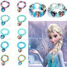Free shipping fashion jewelry Chain Frozen Girls Elsa Anna Heart Charm Bracelet Cartoon Kids Gift Frozen Bracelet(China (Mainland))