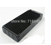 Computer water cooling radiator 240p double heat exchanger discharge aluminum can set 2 fans exhaust  cooled exhaust computer