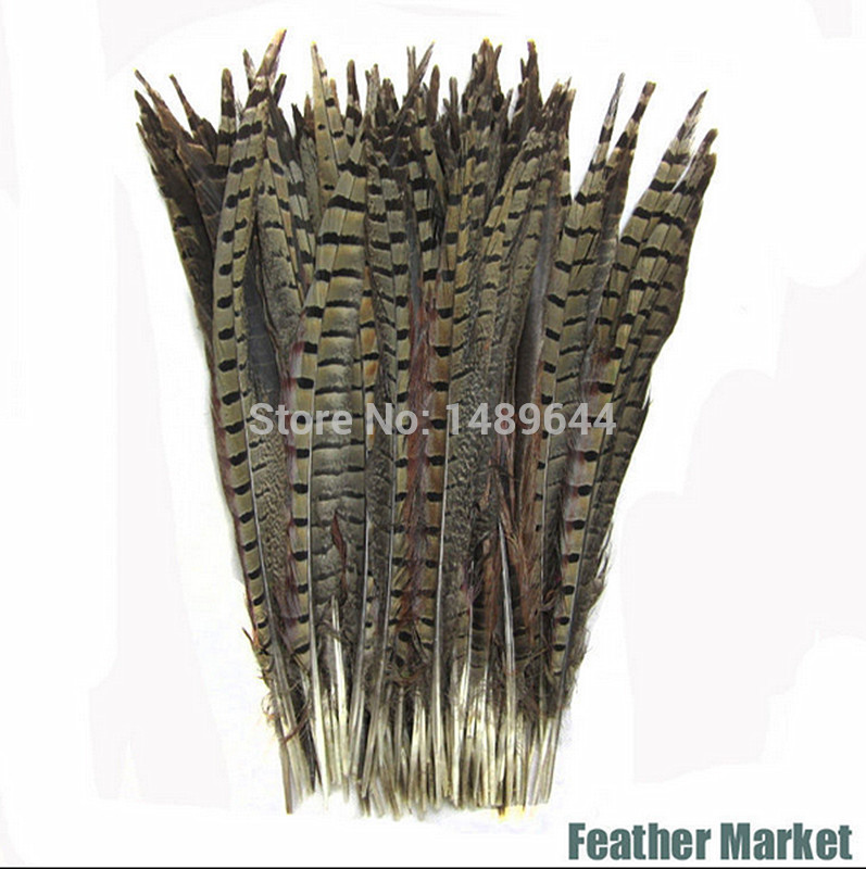 Free shipping 50 30-35CM CKH natural pheasant feather feathers for clothing / wedding decoration / party / Stage bulk feathers(China (Mainland))