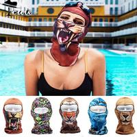 Diving Mask Fashion Animals Print Pool Mask Multi-envoronment Face-kini Sun Protection Face Mask Swim Beach Facekini MZN023-1