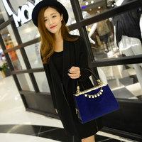 2014 Pearl new European and American fashion handbag Leopard print handbag shaped horsehair diagonal shoulder bag surge