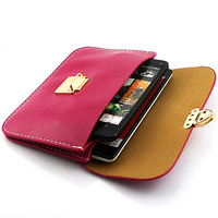 Crazy Horse lines horizontal version of Messenger Bag Leather Cover Case For Sony HTC One M7 Free Shipping