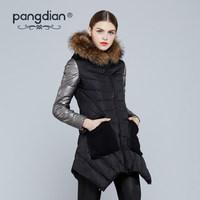 2014 Winter Hot Thicken Warm Woman Down jacket Hooded Raccoon Fur collar Luxury Coats Outerwear Parkas Long  Plus Size 5XXXXXL