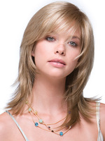 Capless Top Grade Synthetic shoulder length hair style Straight Synthetic Full Hair Wig