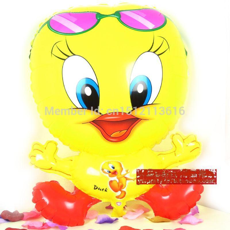 5pcs/Lot Free Shipping, Duck Pet Walking Animals Balloons Hulium ballons decoration, Baby's toy, Party Decoration. ballons Gift(China (Mainland))