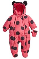 new 2014 autumn winter romper baby clothing infant cotton rompers newborn baby boy Polka Dot jumpsuit baby girls cartoon overall