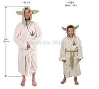 Star Wars Jedi Master Yoda Ear Fleece Bathrobe Hooded Robe Sleepwear Dress Gown Kids Adult