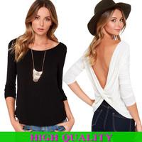 Blusas Femininas 2014 Casual Women Blouses Long Sleeve Slash Neck Solid Shirt Plus Size Women Clothing Tops For Women Plus Size