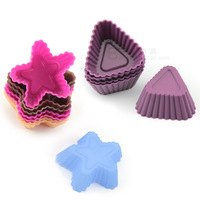 Exported to Europe and 3cm mini trumpet pentagram triangle silicone bakeware mini silicone mold Muffin