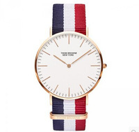 Free Shipping ! THOM retro minimalist fashion casual slim watches for men and women of color Nylon Strap Watch