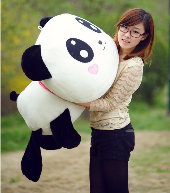 25CM 1pcs Stuffed Dolls Pillow Panda Lint Cushions Plush Toys High Quality(China (Mainland))