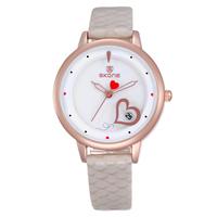 2015! New Women Watch Luxury Brand Women Genuine Leather Straps Women Quartz Watches Water Resistant Watches