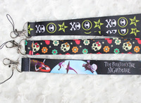 Hot 30pcs The Nightmare Before Christmas Lanyard/ MP3/4 cell phone/ keychains /Neck Strap Lanyard WHOLESALE Free shipping