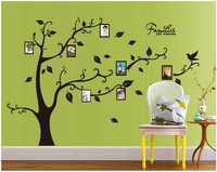 Wholesale Free shipping tree FRAME Hot selling decals stickers DIY Decoration removable wall sticker Parlor TV background NC9063