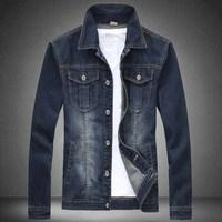 Free shipping famous brand plus size XXL XXXL 4xl 6xl mens jeans autumn mens jeans brand denim jacket coat slim men's clothing